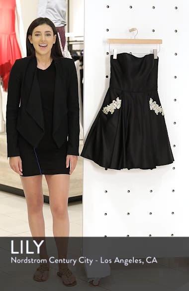 Satin Appliqué Party Dress, sales video thumbnail