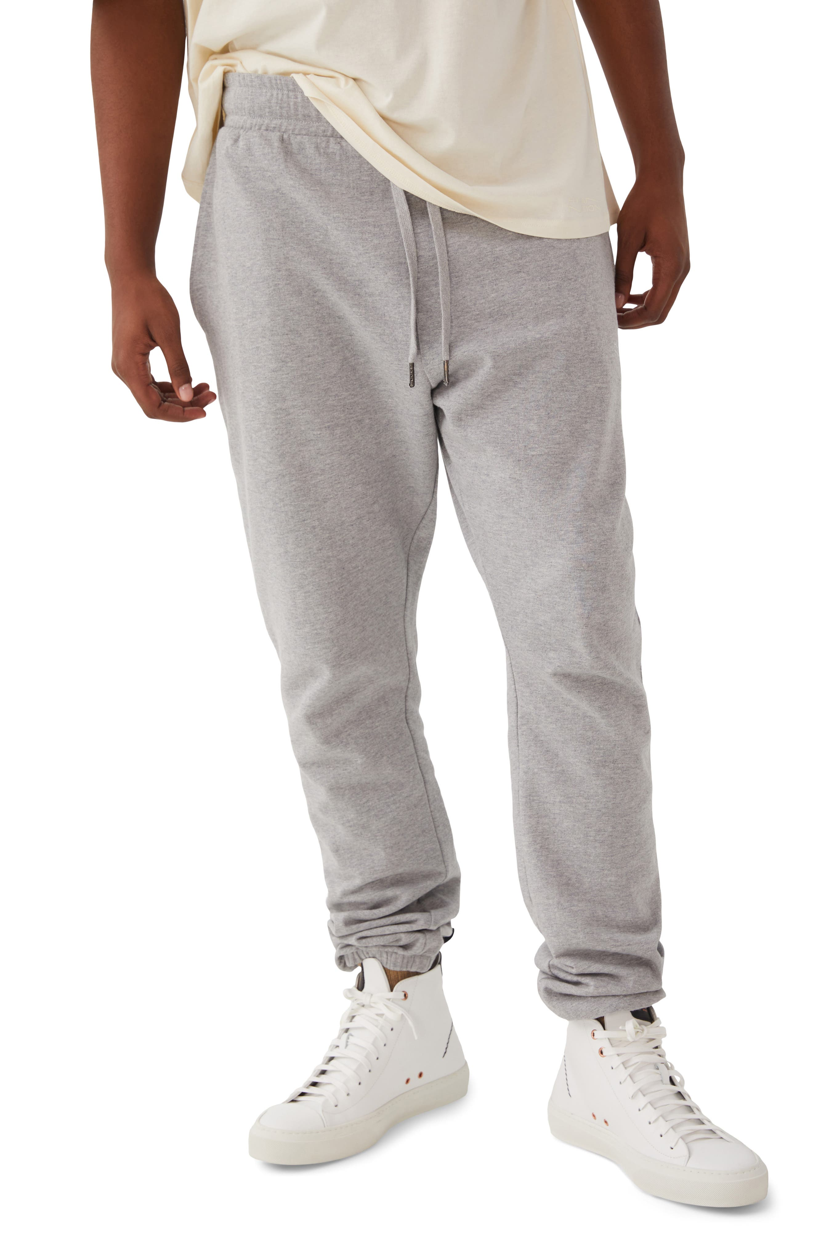 Gender Inclusive Heathered Organic Cotton Blend Joggers