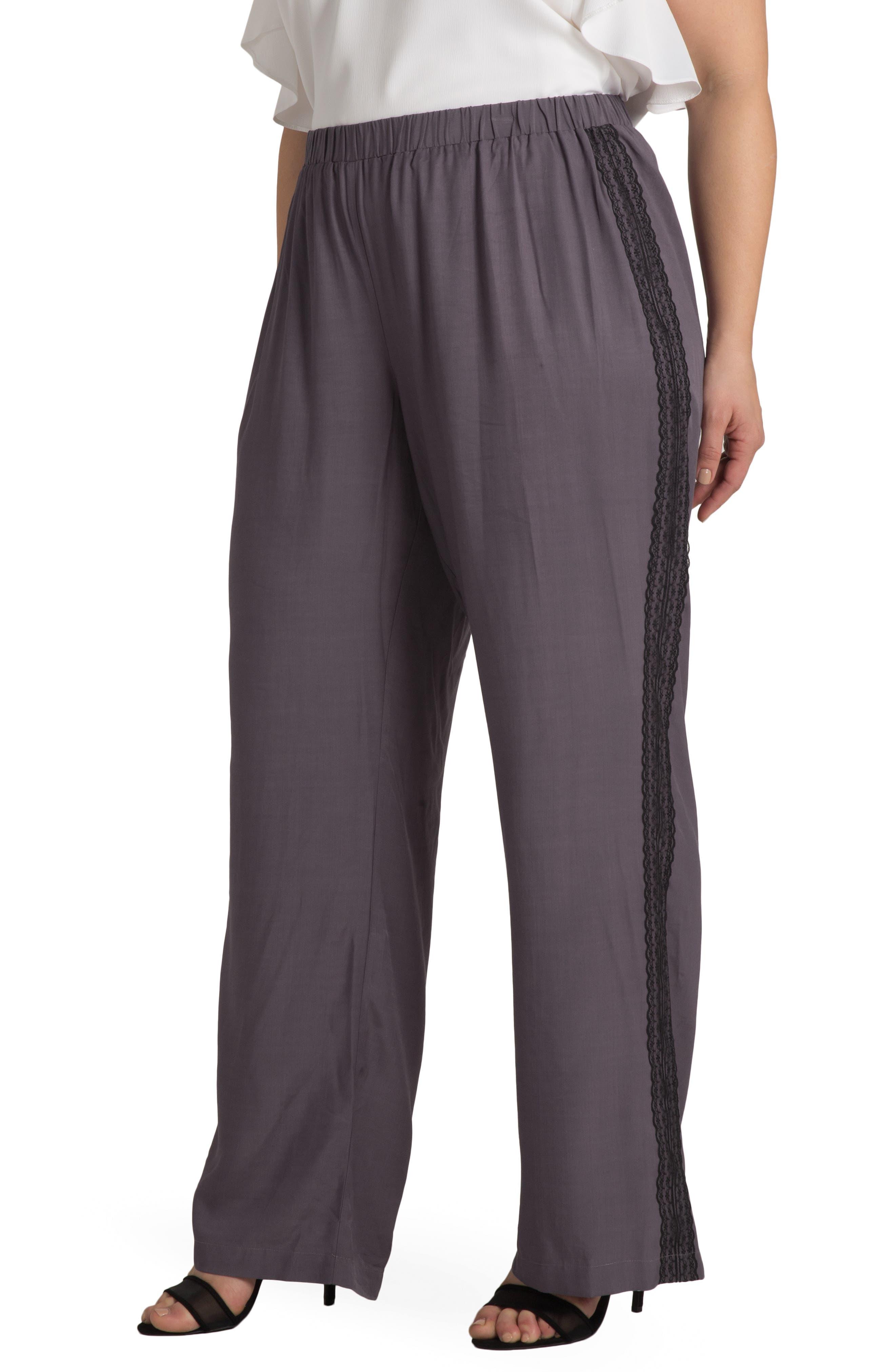 Plus Women's Standards & Practices Clare Lace Stripe Pants