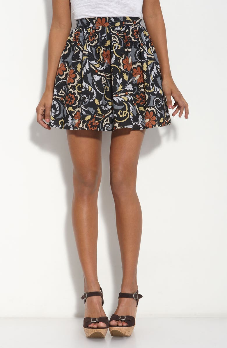 LILY WHITE Floral Print Skirt, Main, color, 001