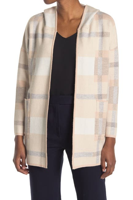 Image of Cliche Plaid Hooded Cardigan