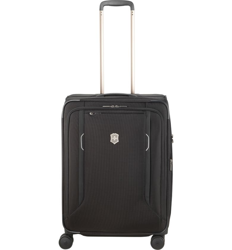 VICTORINOX SWISS ARMY<SUP>®</SUP> Werks 6.0 Medium 25-Inch Spinner Packing Case, Main, color, BLACK