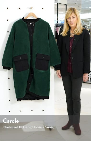 Teddy Faux Fur Long Bomber Coat, sales video thumbnail