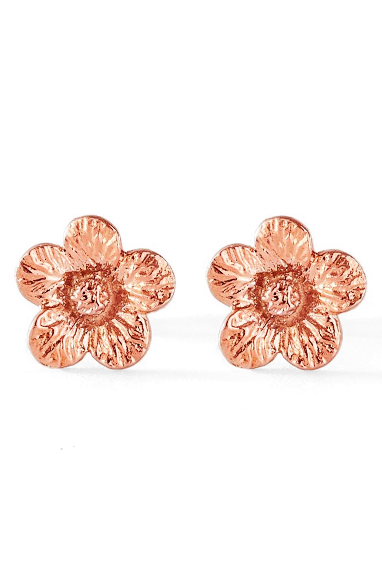 Flora Petunia 14K Gold Earrings