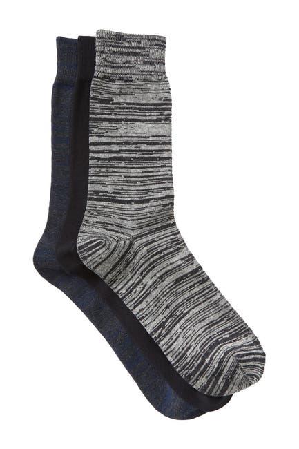Image of Slate & Stone Printed Crew Socks - Pack of 3