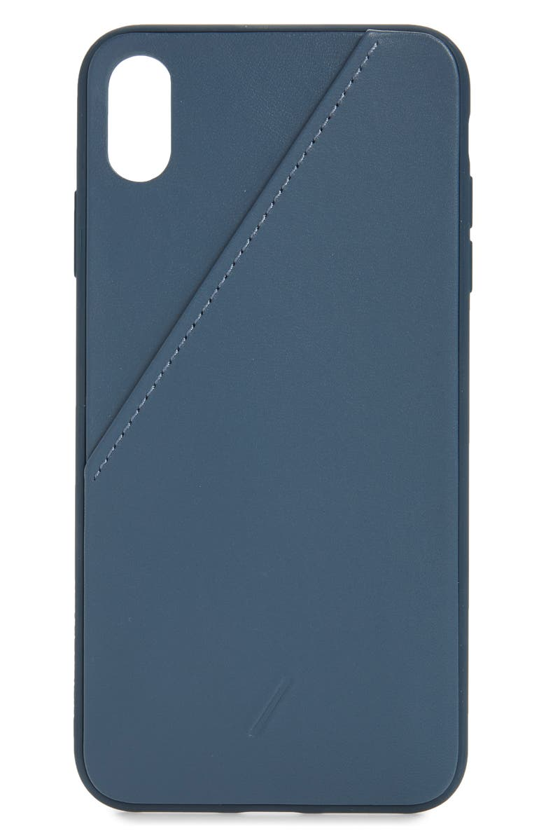 buy online f2a2b a93aa Native Union Clic Leather Card iPhone XS Max Case | Nordstrom