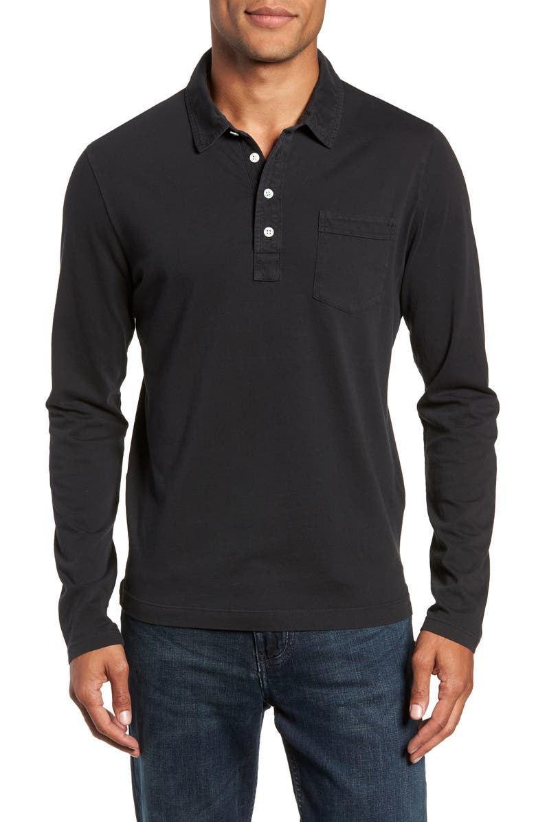BILLY REID Pensacola Regular Fit Garment Dye Polo, Main, color, 001