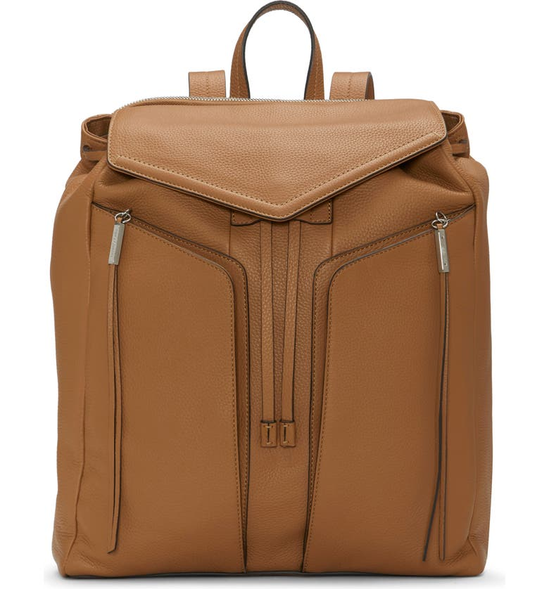 VINCE CAMUTO Mika Leather Backpack, Main, color, ROSE BEIGE