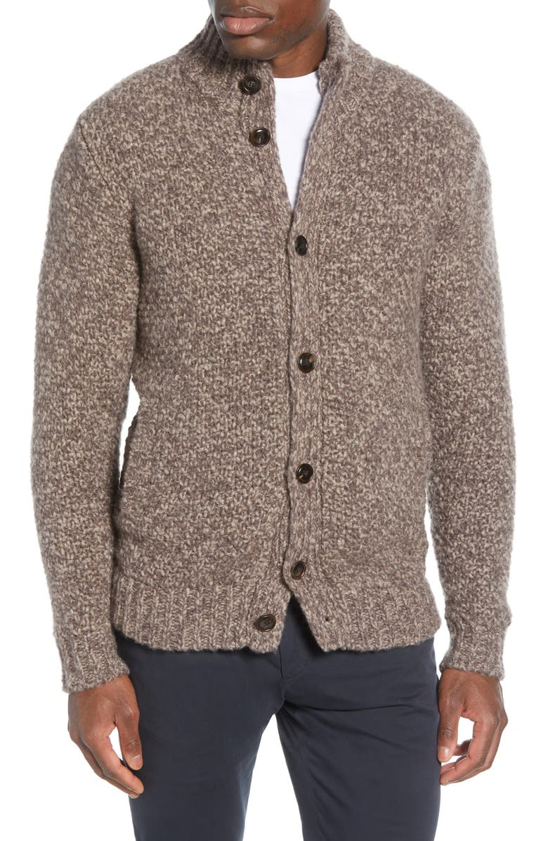 PETER MILLAR Vanoise Cashmere & Silk Button Cardigan, Main, color, VOLPE