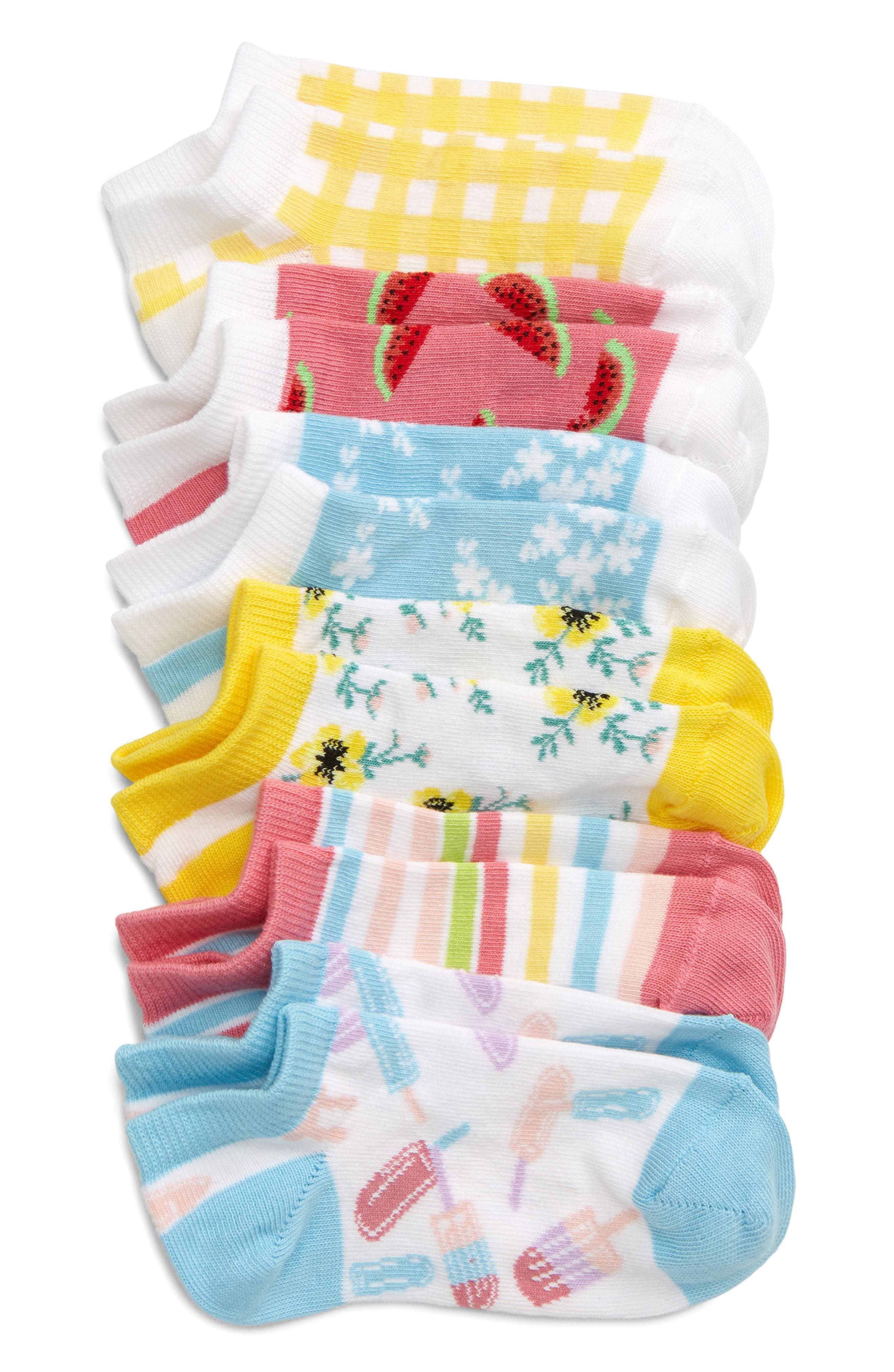 Picnics in the park will be more fun thanks to these stretchy cotton-blend socks knit with an array of colorful, summery patterns. Style Name: Tucker + Tate Kids\\\' Picnic 6-Pack Low Cut Socks (Walker, Little Kid & Big Kid). Style Number: 5978177. Available in stores.