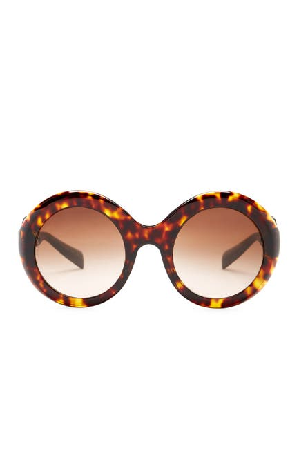 Image of Dolce & Gabbana Women's Catwalk Round Acetate Frame Sunglasses