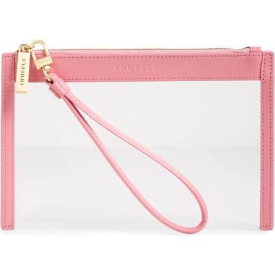 Truffle Clarity Clear Wristlet - Pink