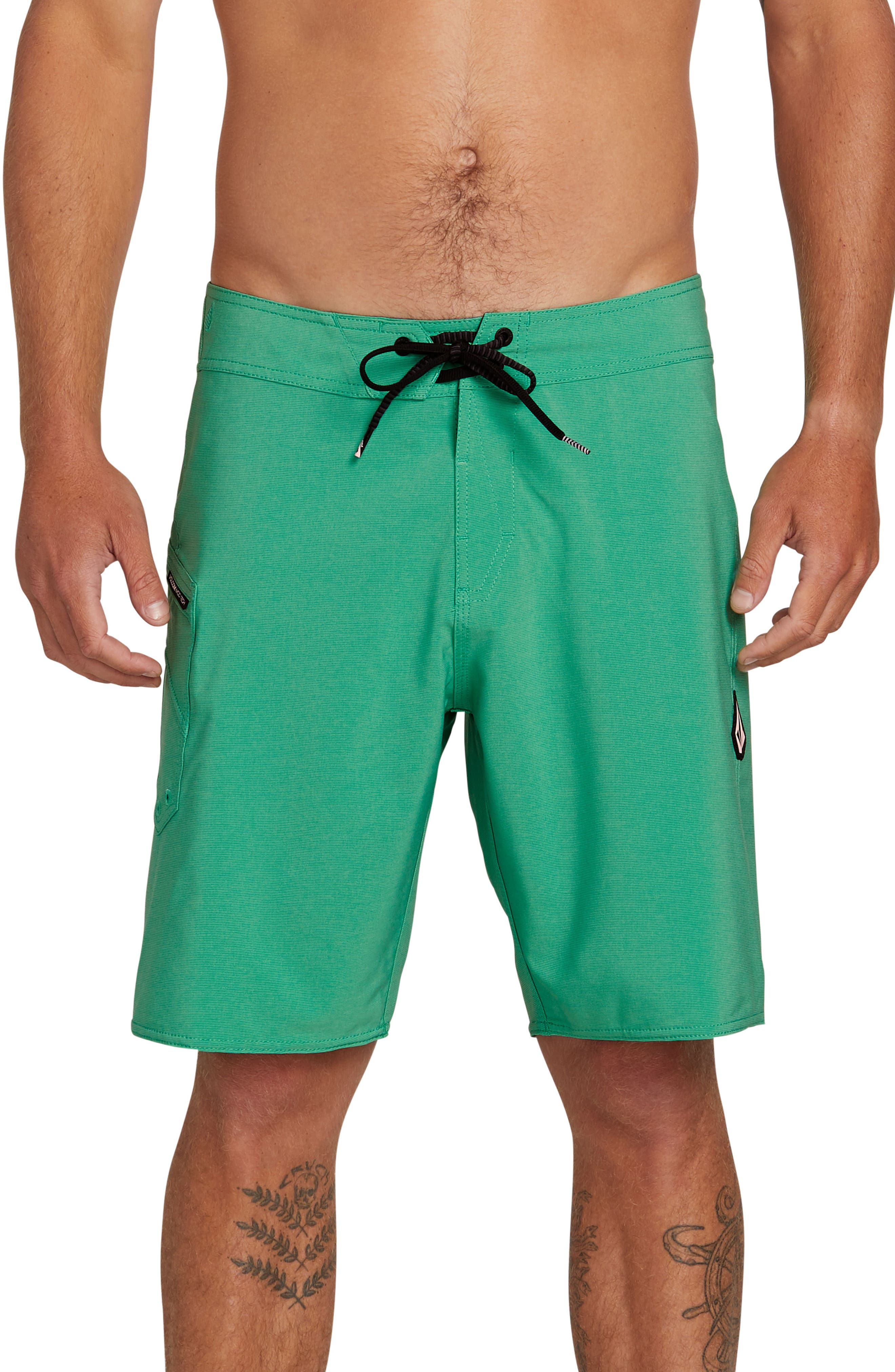 Volcom Lido Solid Mod Board Shorts, Green