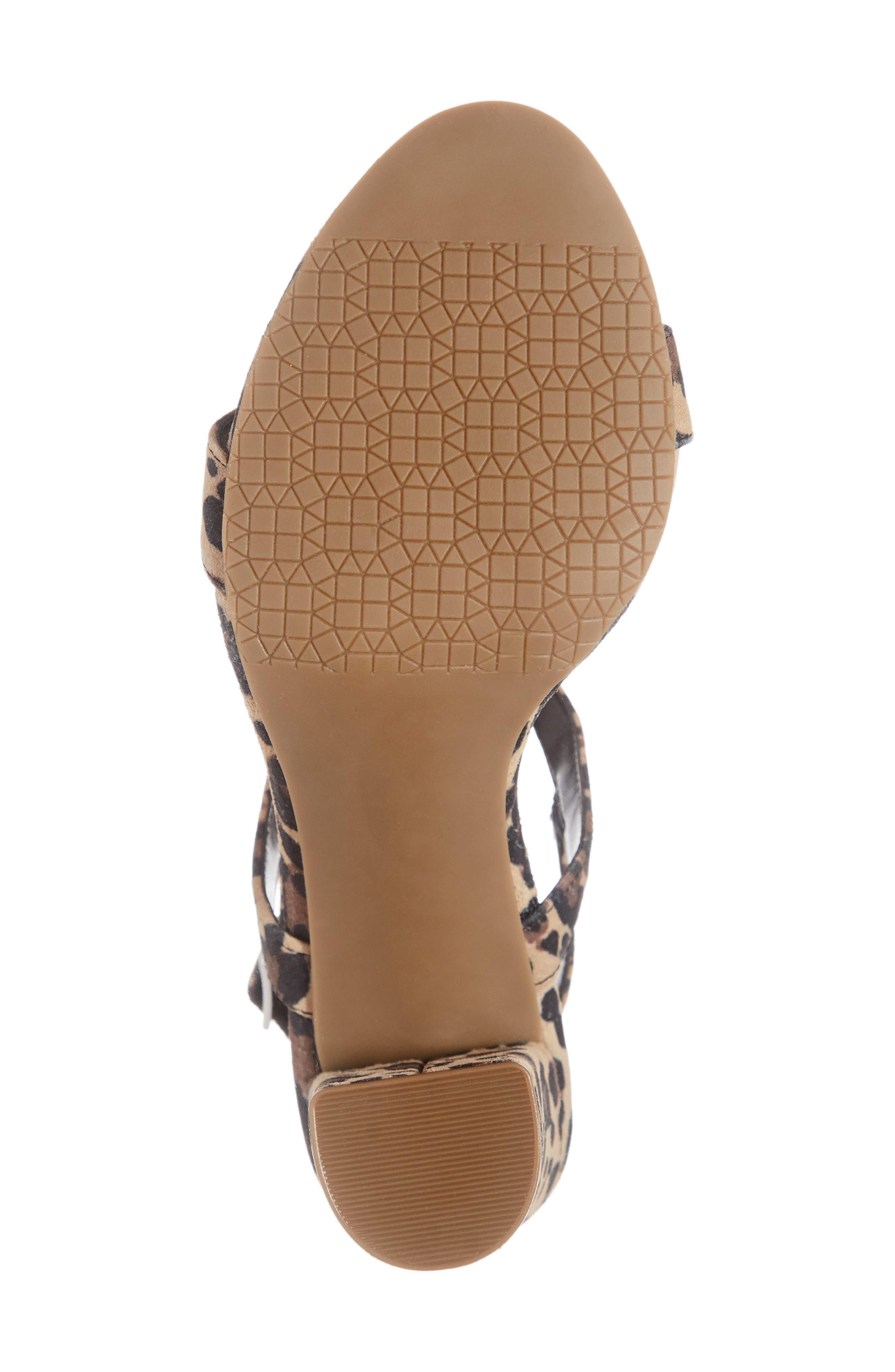 ,                             Lula Block Heel Slingback Sandal,                             Alternate thumbnail 6, color,                             LEOPARD PRINT LEATHER