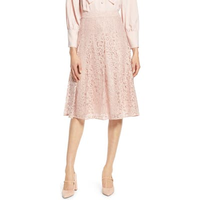 Halogen X Atlantic-Pacific Pleated Lace Skirt, Pink (Nordstrom Exclusive)