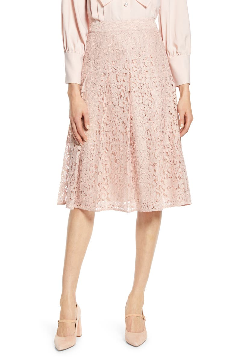 HALOGEN<SUP>®</SUP> x Atlantic-Pacific Pleated Lace Skirt, Main, color, 680