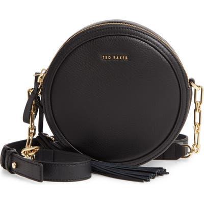 Ted Baker London Errinn Leather Circle Crossbody Bag - Black