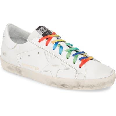 Golden Goose Rainbow Superstar Sneaker, White