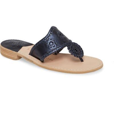 Jack Rogers Metallic Jacks Flip Flop- Blue