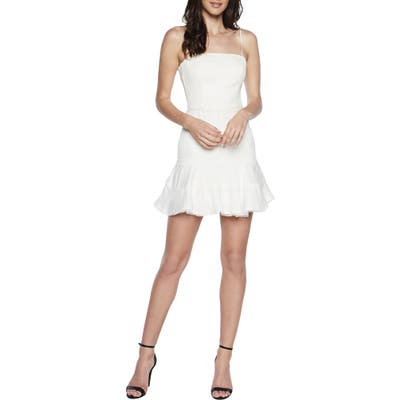 Bardot Priano Trim Sleeveless Minidress, Ivory