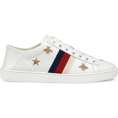 Gucci New Ace Convertible Heel Sneaker, White