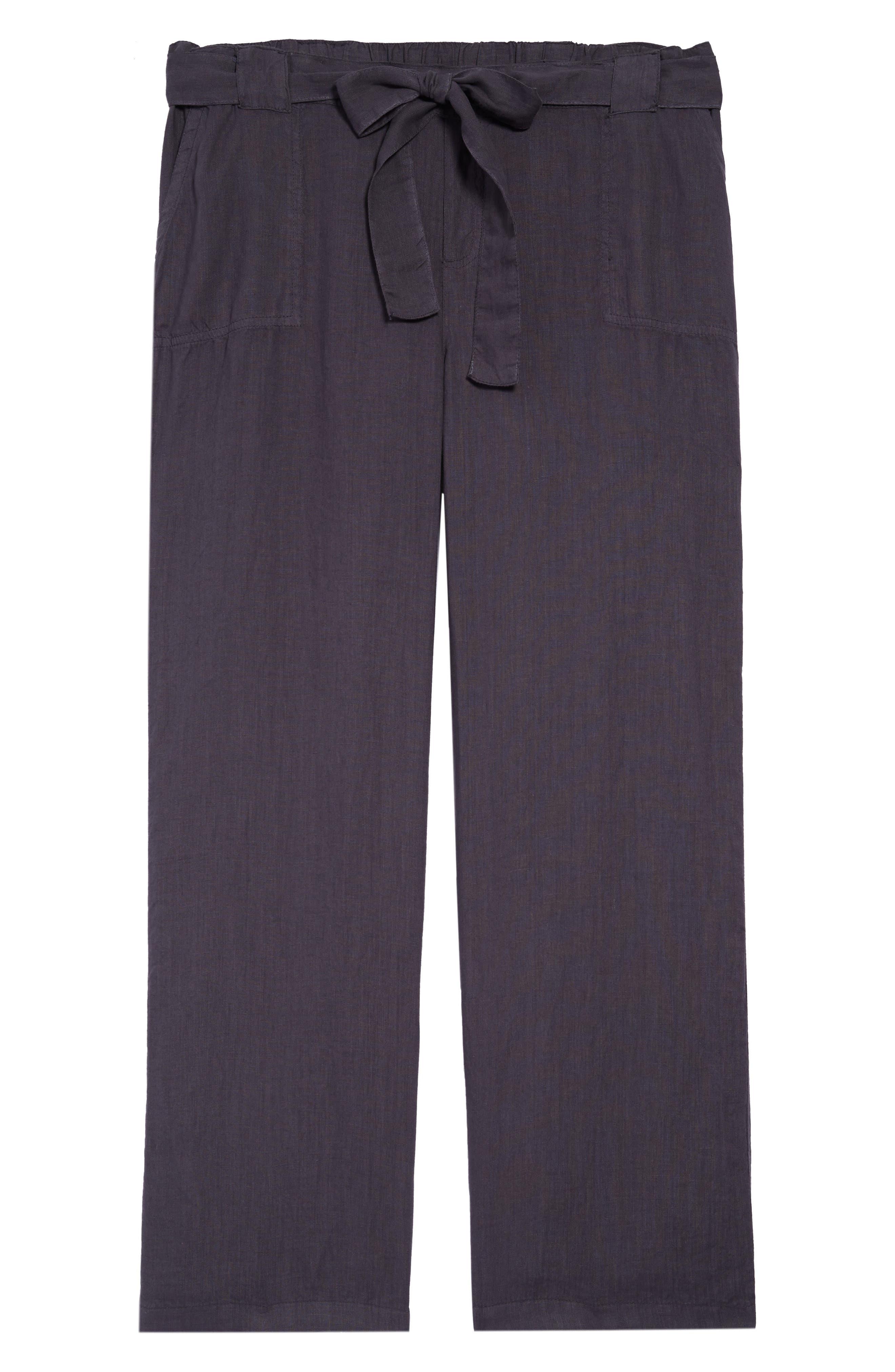 Plus Size Women's Caslon New Belted Linen Pants