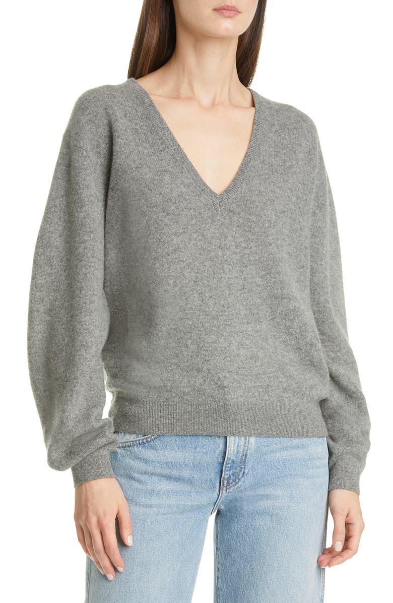 KHAITE Sam Cashmere Sweater, Main, color, SMOKE