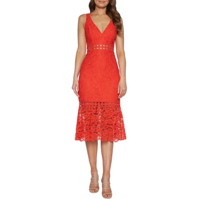 Bardot Fiona Lace Trumpet Dress