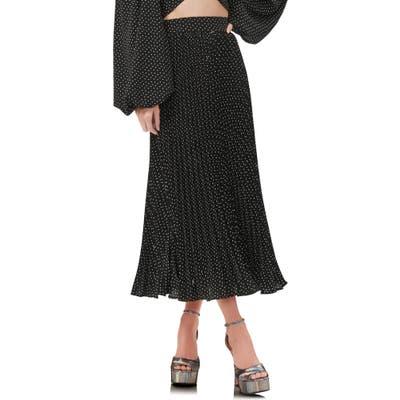 Afrm Dilan Pleated Midi Skirt, Black