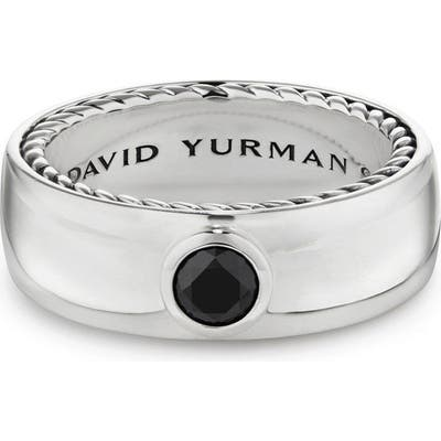David Yurman Streamline Band Ring With Black Diamond