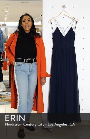Spaghetti Strap Chiffon A-Line Gown, sales video thumbnail