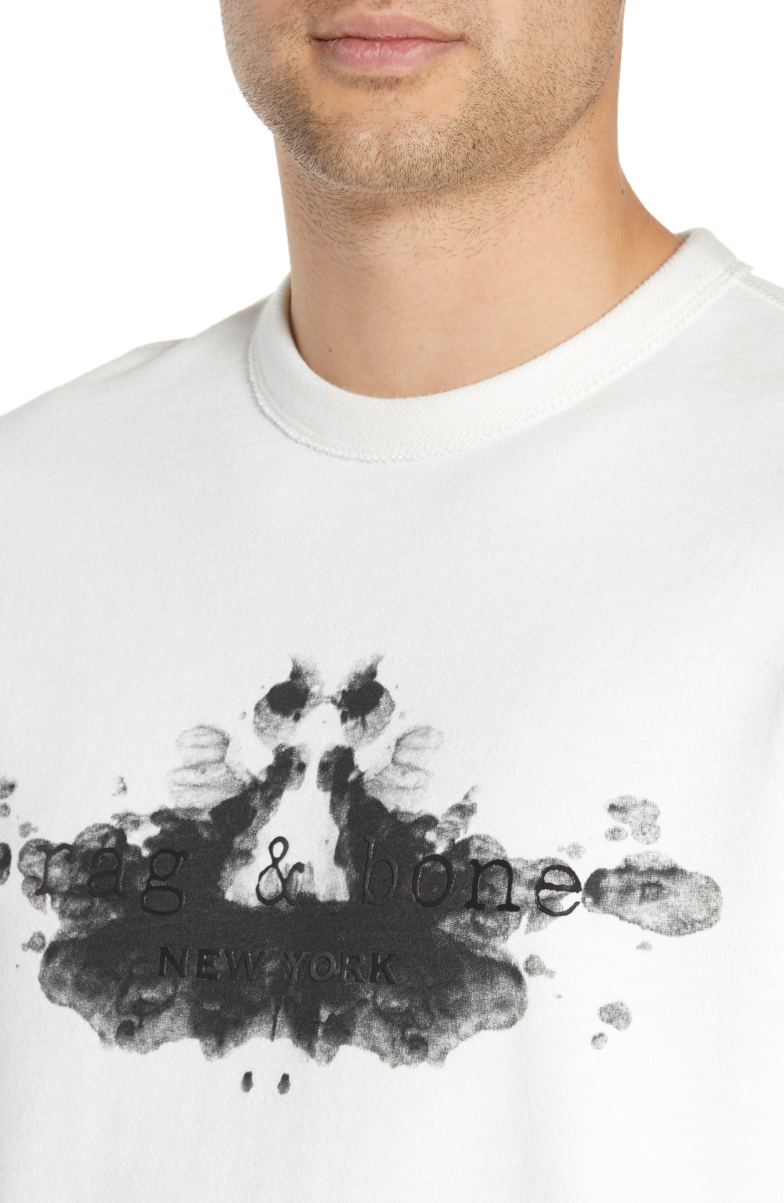 ,                             Rorschach Slim Fit Sweatshirt,                             Alternate thumbnail 4, color,                             IVORY