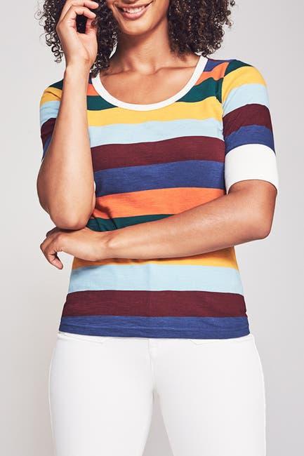 Image of FAHERTY BRAND Leni Stripe T-Shirt
