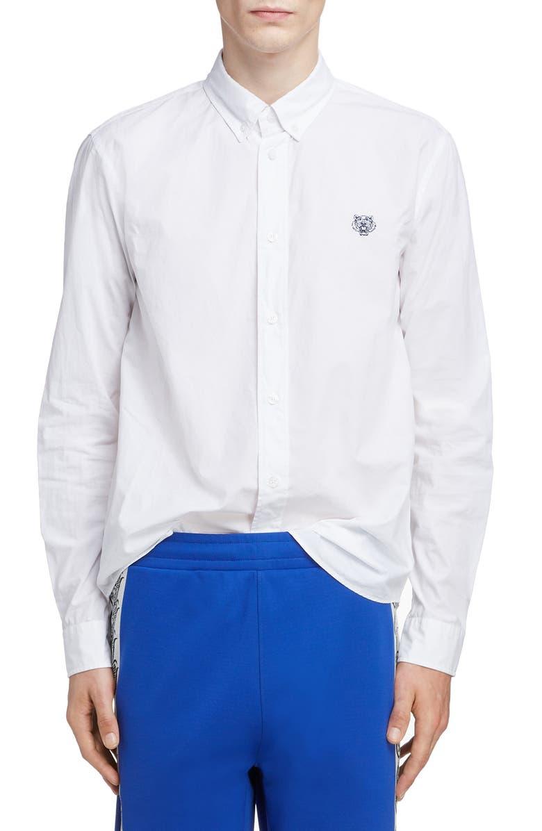 KENZO Tiger Crest Sport Shirt, Main, color, WHITE