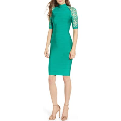 Sentimental Ny Bandage Body-Con Dress, Green