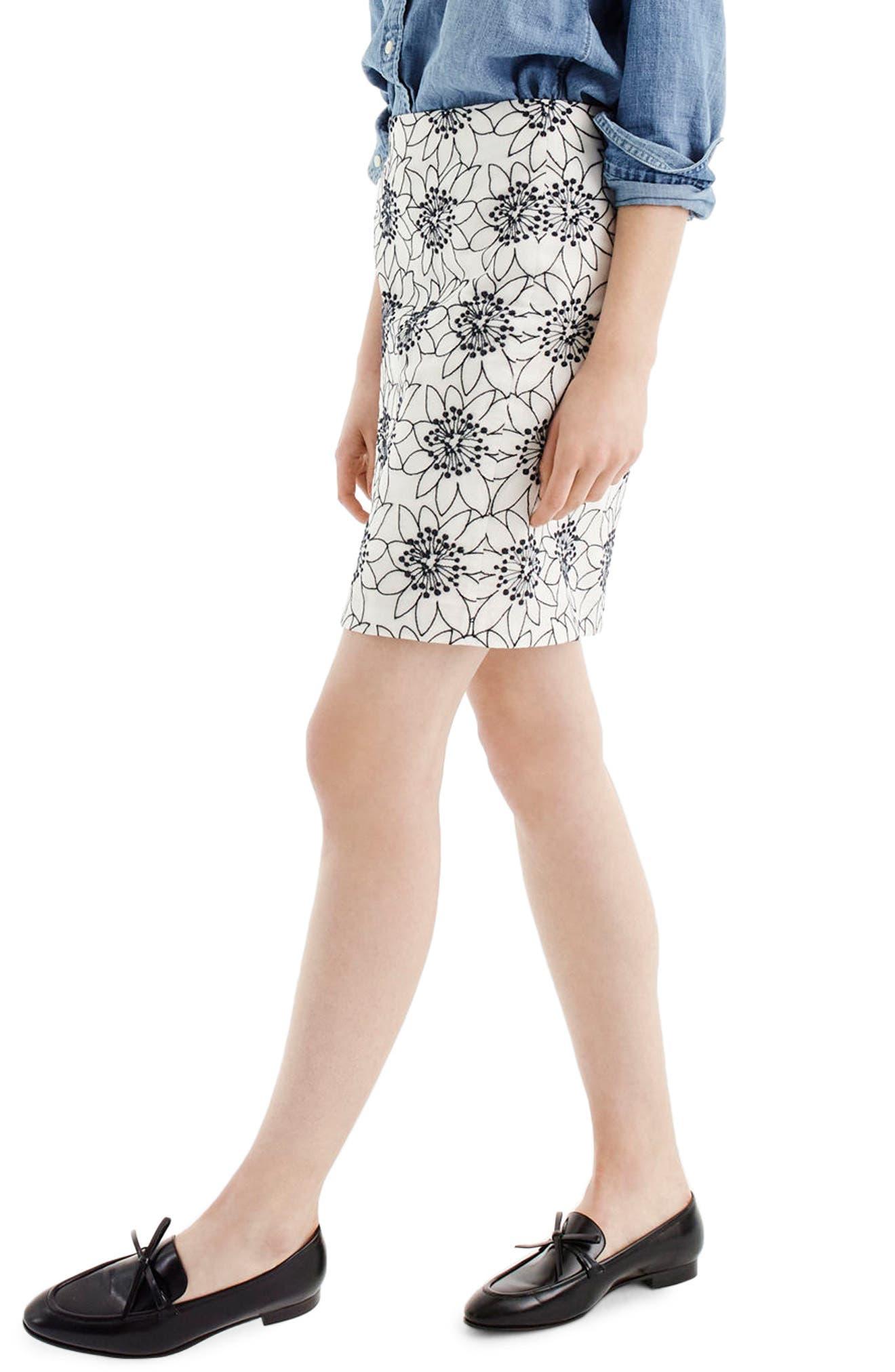 ,                             Embroidered Floral Miniskirt,                             Alternate thumbnail 2, color,                             900