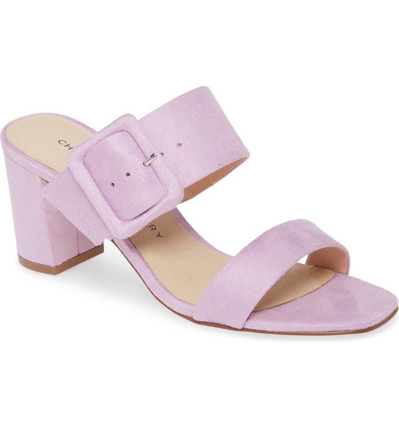 CHINESE LAUNDRY Yippy Block Heel Sandal, Main, color, LOVELY LILAC SUEDE