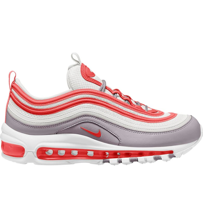 NIKE Air Max 97 Sneaker, Main, color, PLATINUM TINT/ TRACK RED