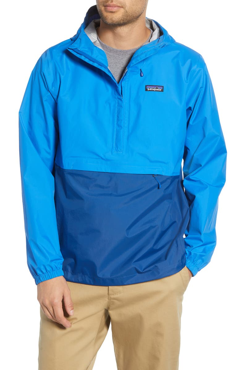 PATAGONIA Torrentshell 3L Packable Waterproof Pullover, Main, color, ANDES BLUE