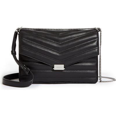 Allsaints Justine Quilted Leather Crossbody Bag - Black