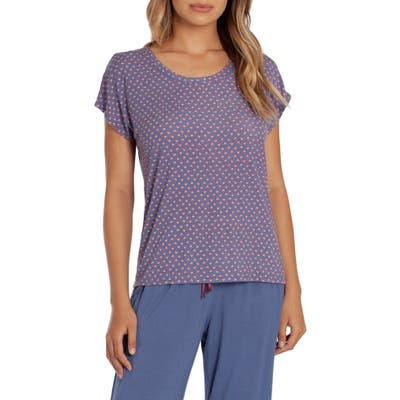 In Bloom By Jonquil Lexie Print Short Sleeve Pajama Top, Blue