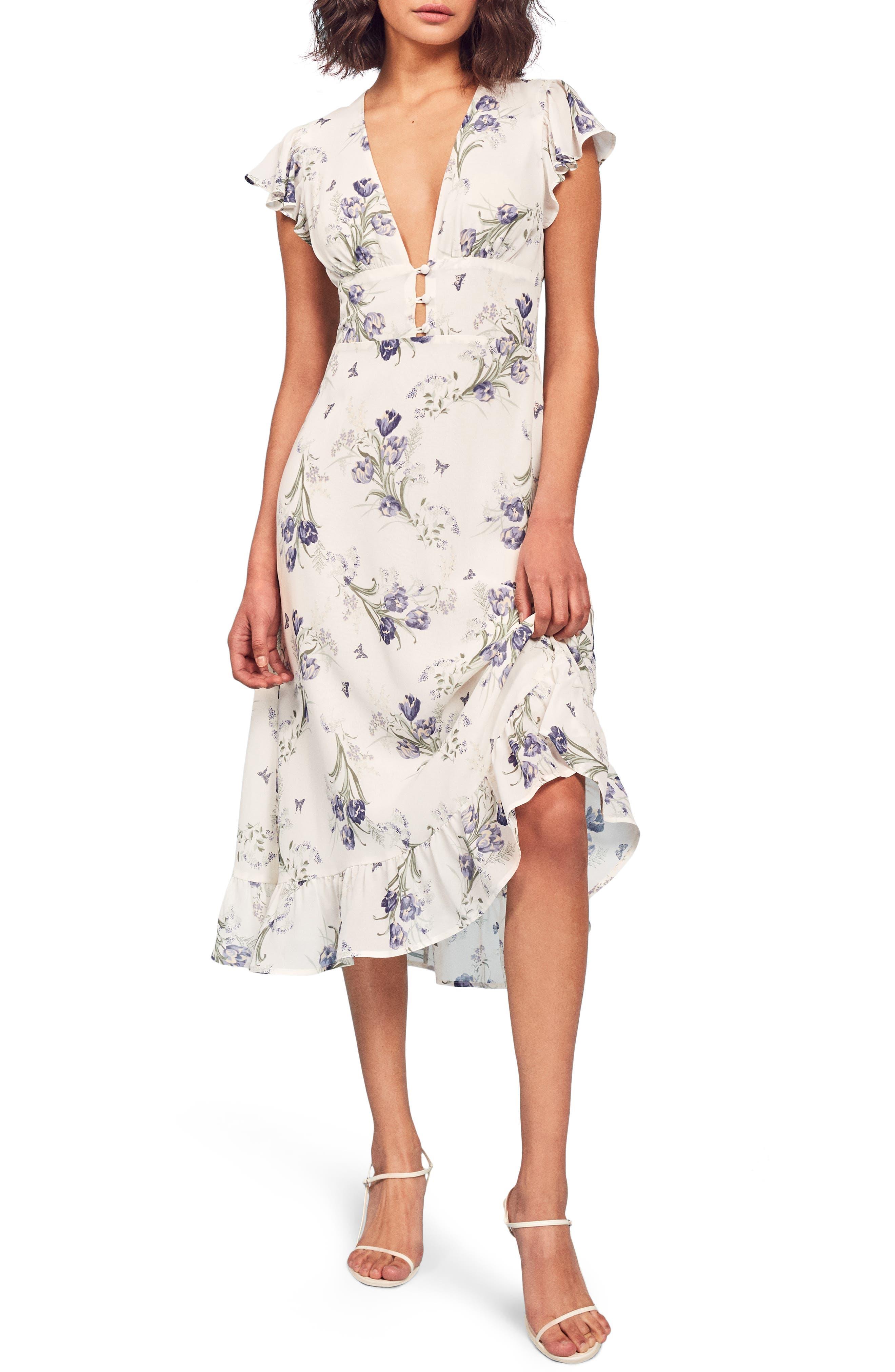 Reformation Riegan Midi Dress, White