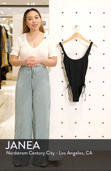 Solids Lace-up Side High-leg One Piece, sales video thumbnail