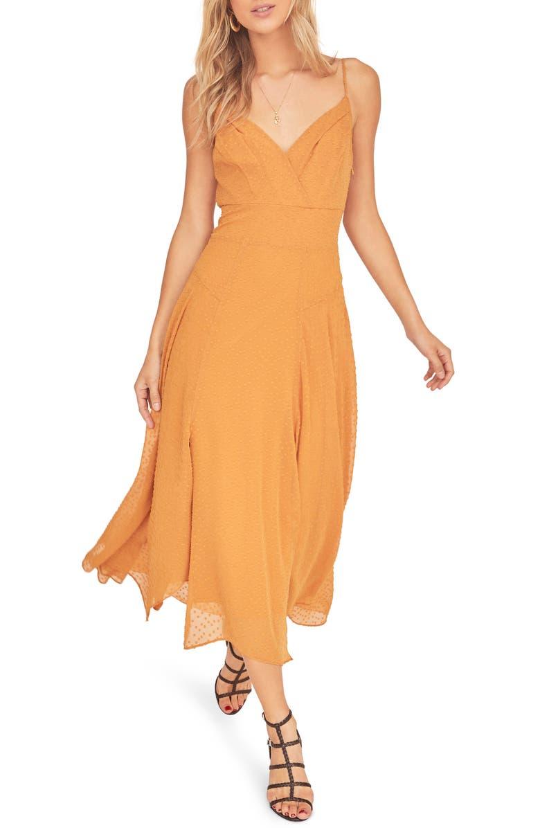 ASTR THE LABEL Lyric Sleeveless Maxi Dress, Main, color, GOLDEN HOUR