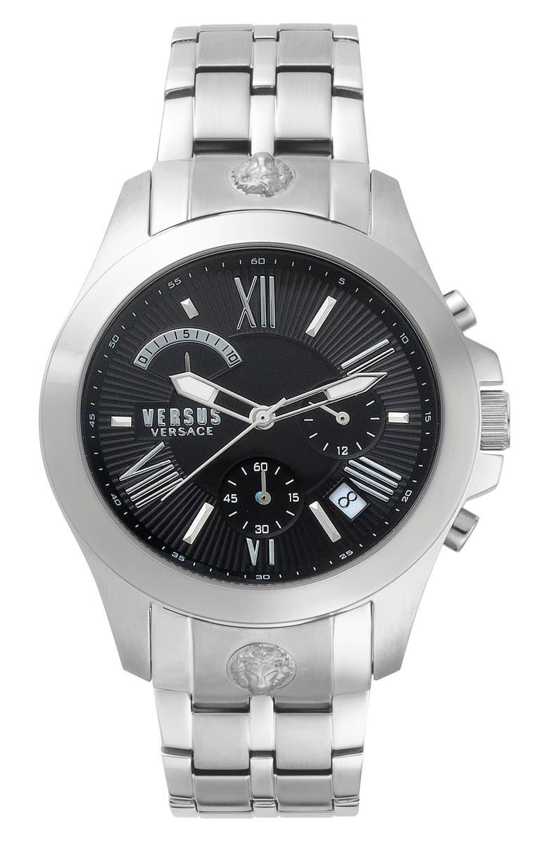 VERSUS VERSACE Lion Chronograph Bracelet Watch, 44mm, Main, color, 040