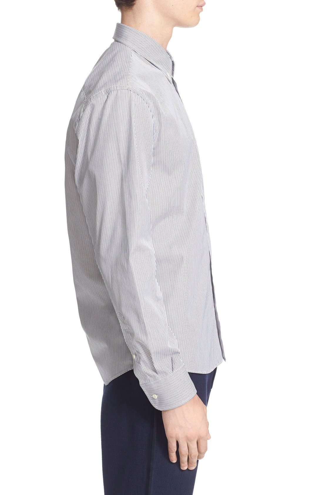 ,                             Trim Fit Stripe Shirt,                             Alternate thumbnail 2, color,                             100