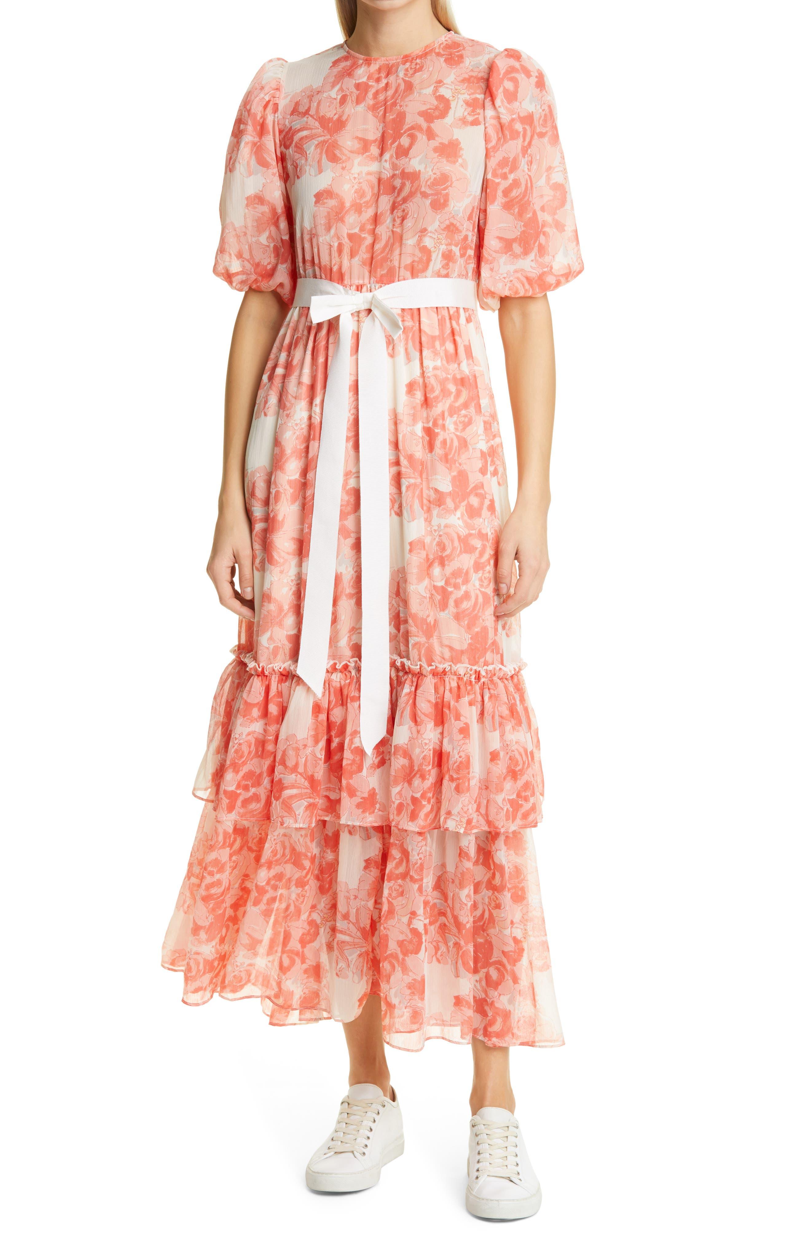 Floral Georgette Maxi Dress