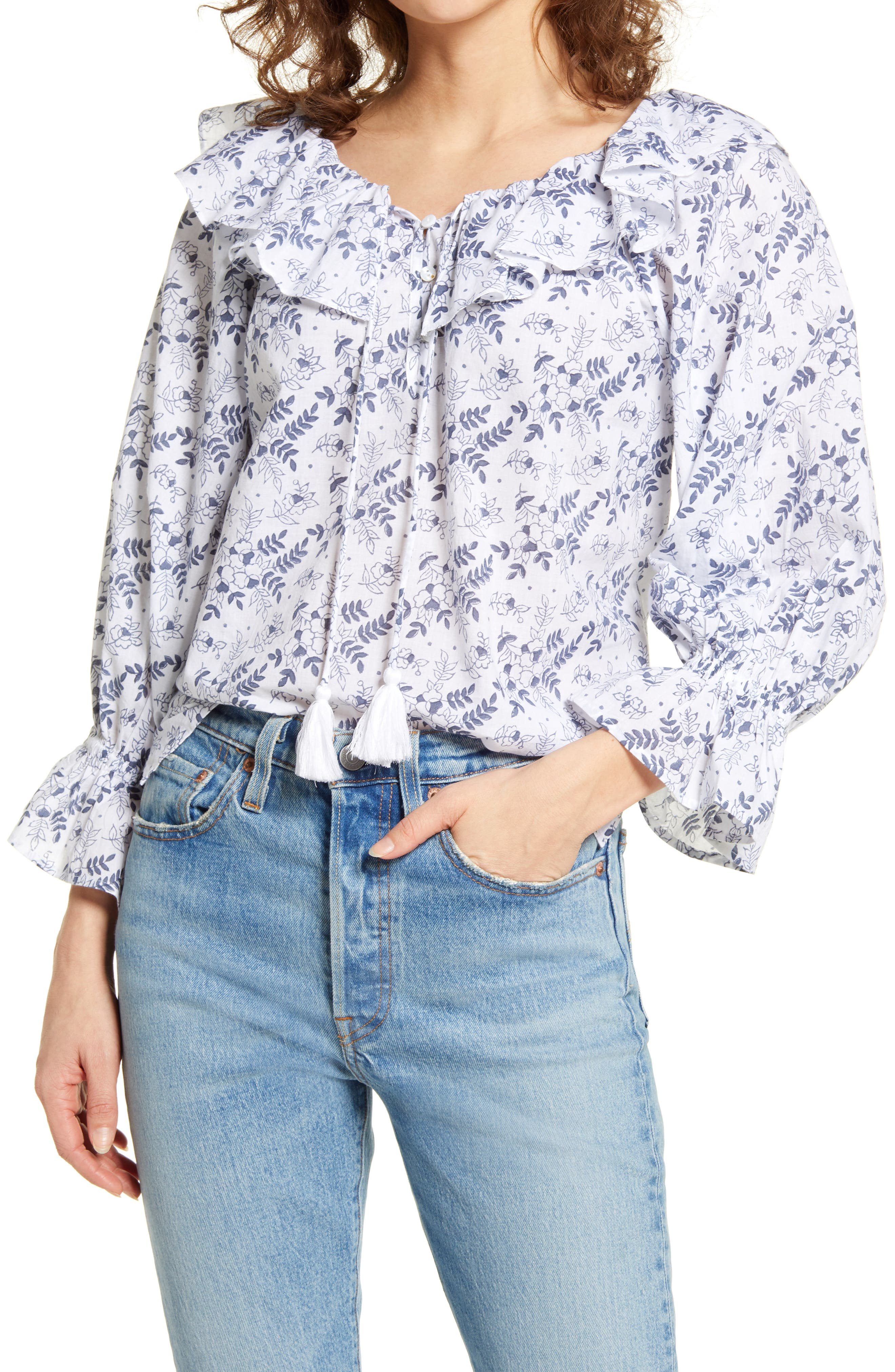 Poppy Floral Ruffle Top