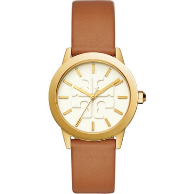 Tory Burch Gigi Leather Strap Watch,