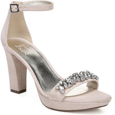 Naturalizer Cassano Crystal Embellished Sandal- Grey